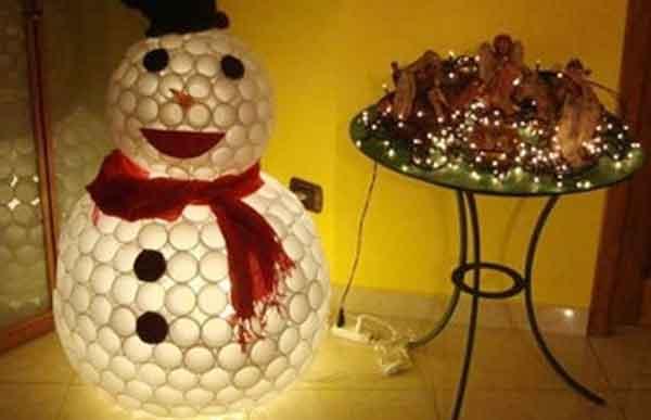 Снеговик-стаканчик под встречу Нового года