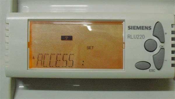 Уровень доступа контроллера Siemens