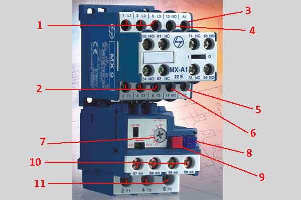 Терминалы электрического контактора