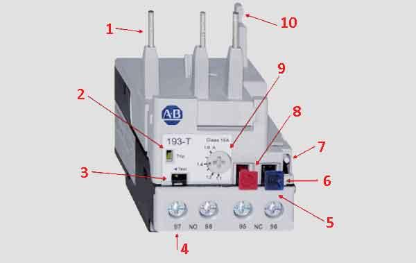 Элементы реле управляемого током