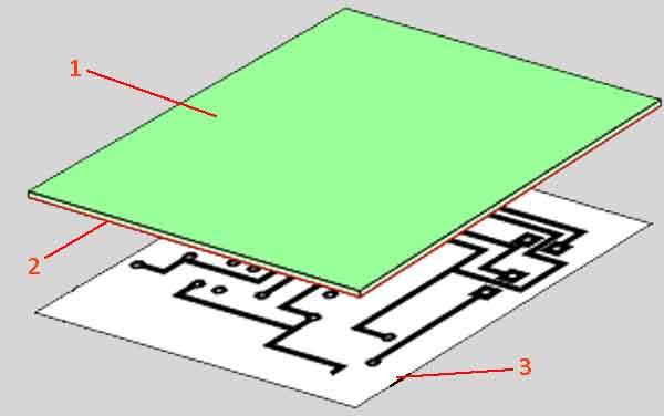 Рисунок схемы на печатной плате
