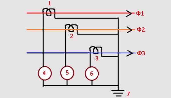 Схема реле срабатывающего по току