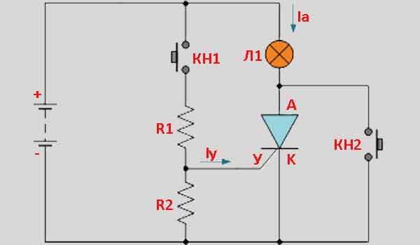 Тиристорная схема управления 2