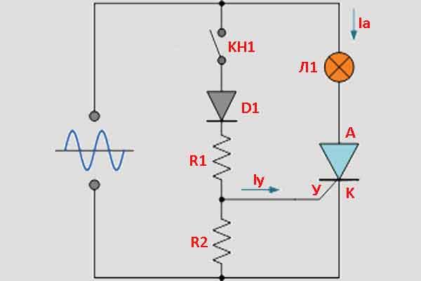 Тиристорная схема управления 3