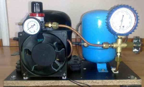 Вариант системы активного охлаждения компрессора