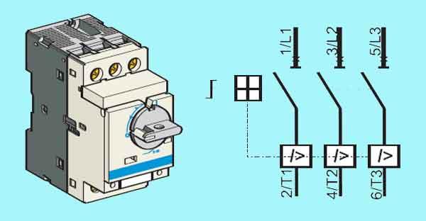 Схема магнитного выключателя
