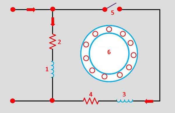 Схема пуска с резисторами