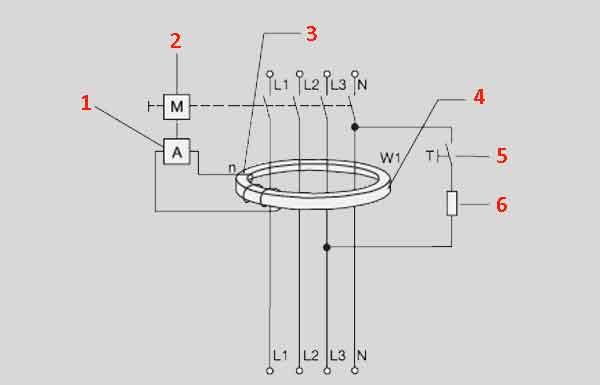 Структурная схема RCBO