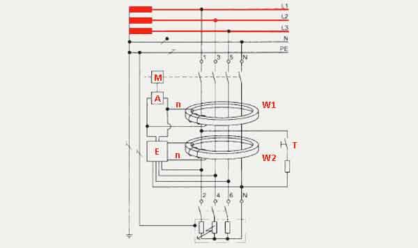 Структурная схема RCCB
