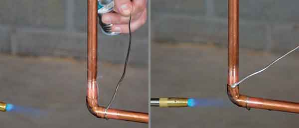 Пайка медных соединений газовой горелкой