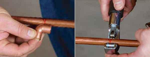 Подгонка и обрезка медной трубки