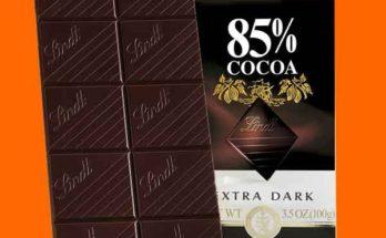 Съесть тёмный шоколад с высоким процентом какао