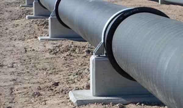 Крепление магистрального трубопровода