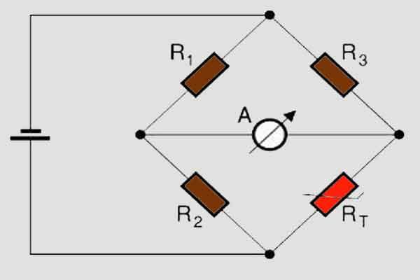 Термистор в мостовой схеме