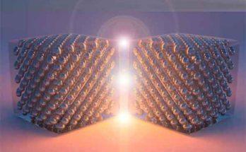 Устройство света с угловым электронным барьером