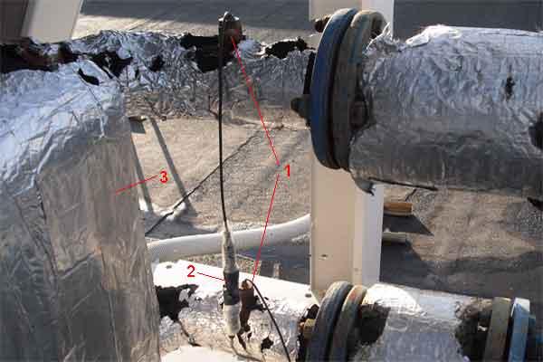 Датчики температуры воды на чиллере