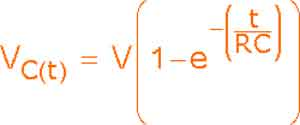 Формула заряда для RC-интегратора