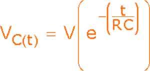 Формула разряда для RC-интегратора