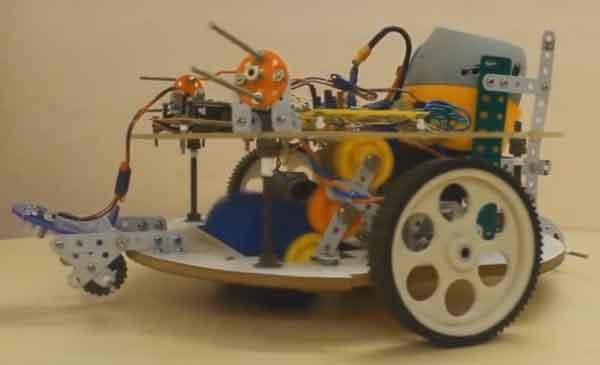 Конструктивное построение пылесоса-робота