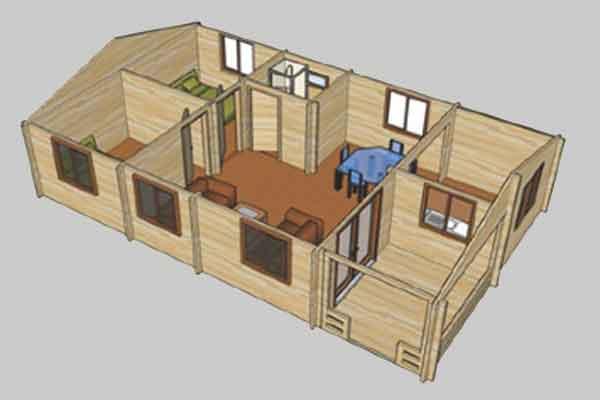 Планирование бревенчатой постройки