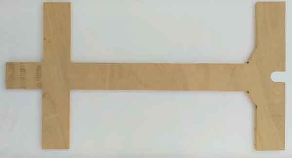 Шасси карта из прессованной фанеры