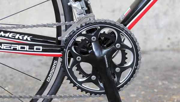 Передняя трансмиссия велосипеда