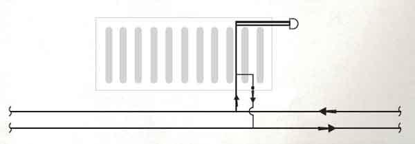 Подключение вентилируемых батарей
