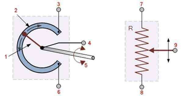 Датчик положения типа потенциометра