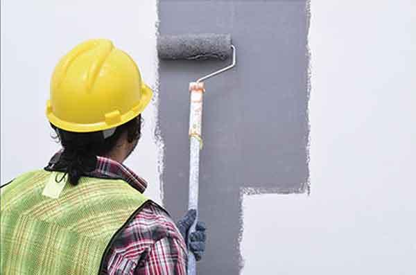 Окраска газобетонных стен
