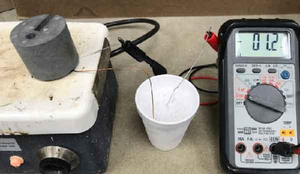 Тестирование термоэлектрической машины