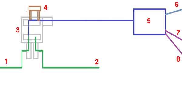 Схема подключения через пустой слот