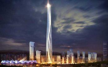 Башня международного центра высотой 700 метров построена в Китае