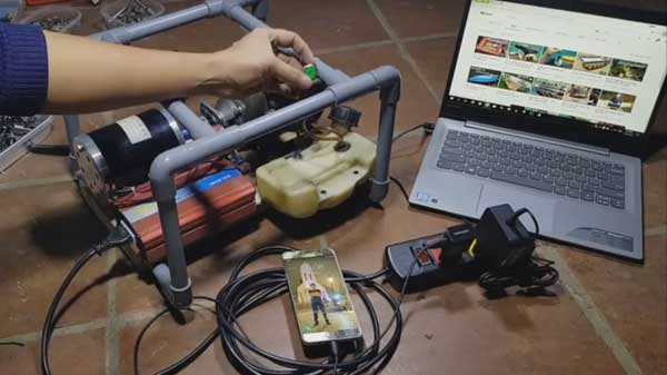 Домашний генератор в работе