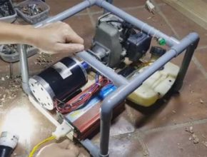 Генератор бензиновый инверторный из газонокосилки своими руками