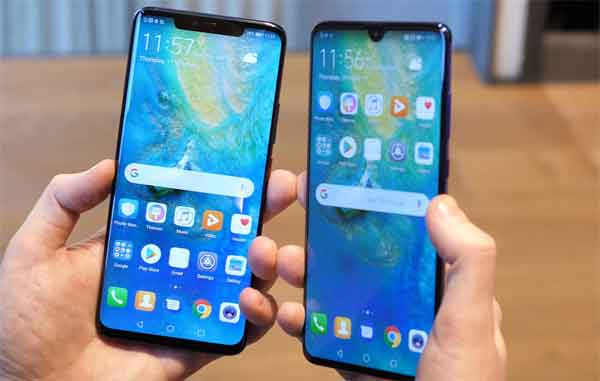 Китайские смартфоны Huawei линейки Mate 20