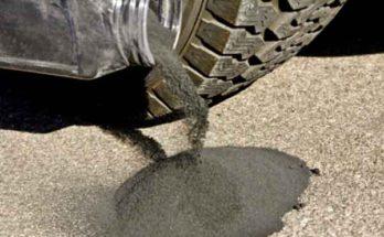 Асфальт на резиновых шинах для автомобильных дорог