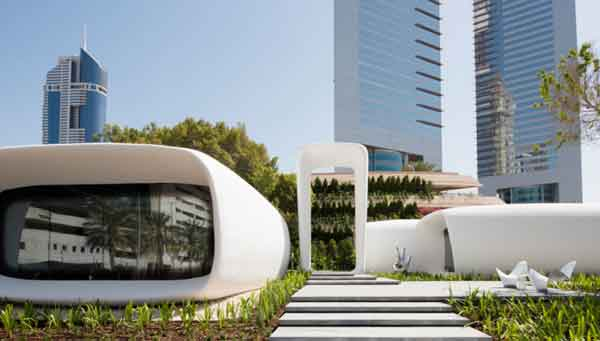 3D печать офисных зданий фирмой «Winsun»