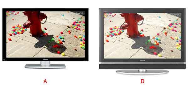 Разница между картинкой плазменного телевизора и LCD