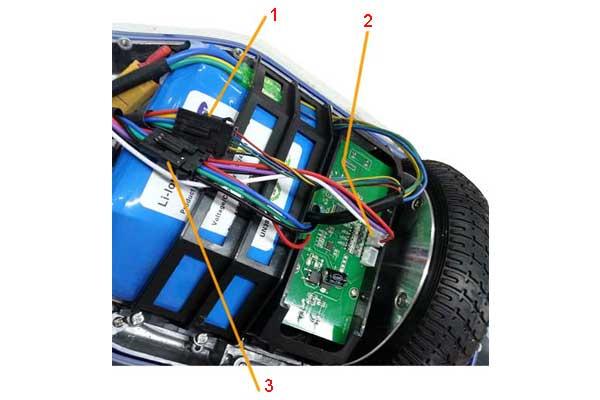 Системные разъёмы электроники гироскутера