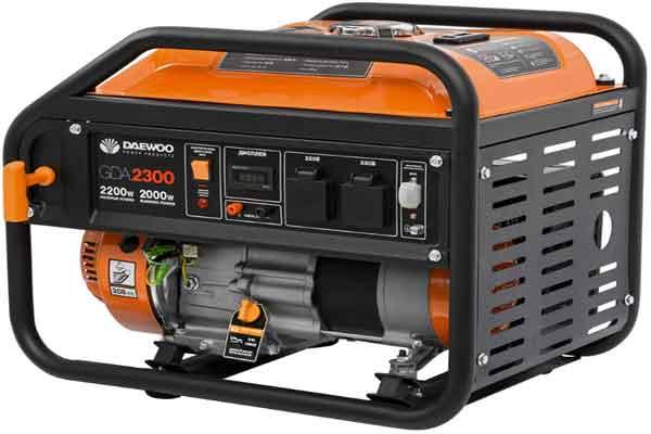 Портативные генераторы: модель Daewoo Power Products GDA 2600i
