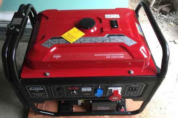 Портативные генераторы модель - ELITECH БЭС 12500