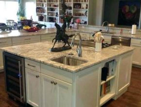 Островная раковина на кухне: особенности подключения дренажной линии