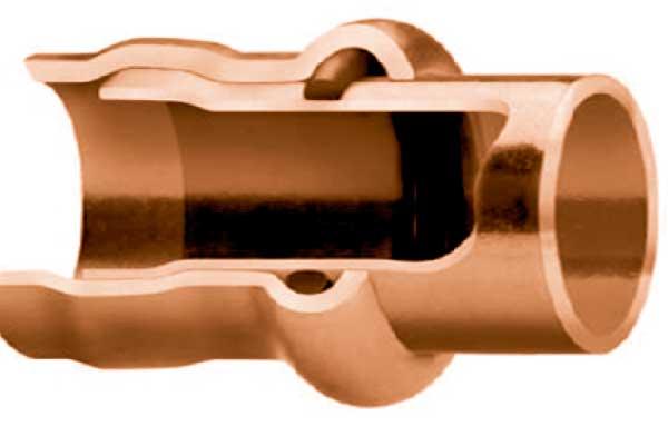 Медные трубы: соединение связывающее обжимное - press-connect