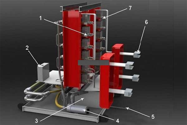 Конструкция: твердотельный выключатель постоянного тока в сетях средних напряжений