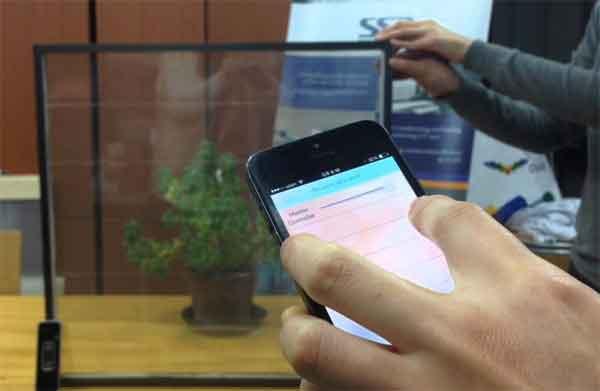 """""""Умная"""" плёнка на стекле, управляемая смартфоном"""