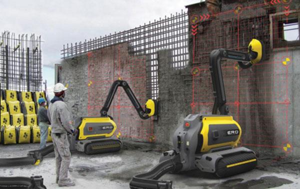 Строительство жилья и робот кладки стен