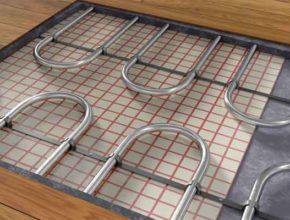 Гибридное напольное отопление экспериментальная схема