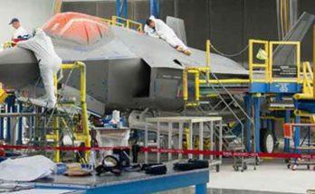 Как собирали фюзеляж F-35 системой проекторов контролёров