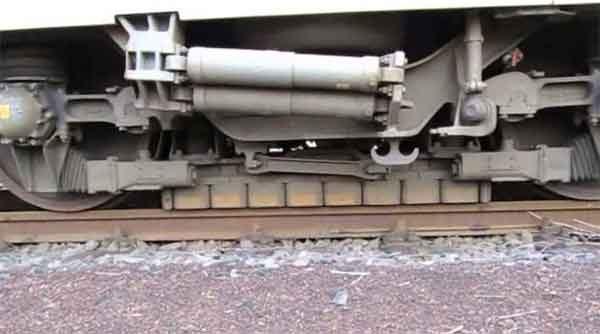 Вихретоковые тормоза в конструкции железнодорожного поезда