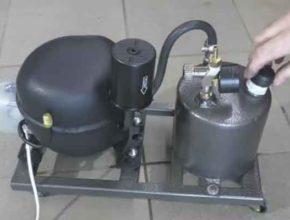 Бензовоздушная горелка из компрессора холодильника своими руками